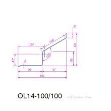 HSL S.Steel  Timber frame Lintel 100mm 1350mm