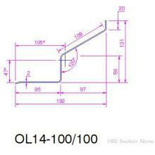 HSL S.Steel  Timber frame Lintel 100mm 1500mm