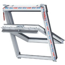 Keylite White Centre Pivot Roof Window 780mm WFCP01T