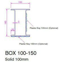 HSL Box Galv. lintel 100 wide 150mm high 1350mm