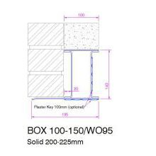 HSL Box  Galv. lintel 200 wide 150mm high 2700mm