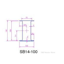 HSL Box S.Steel lintel 100 wide 150mm high 1350mm