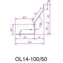 HSL S.Steel  Timber frame Lintel 50mm 1350mm