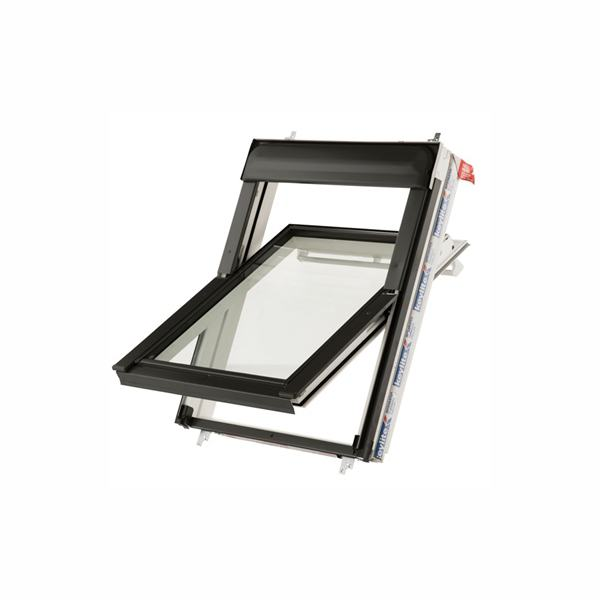Keylite White Centre Pivot Roof Window 980mm WFCP02T